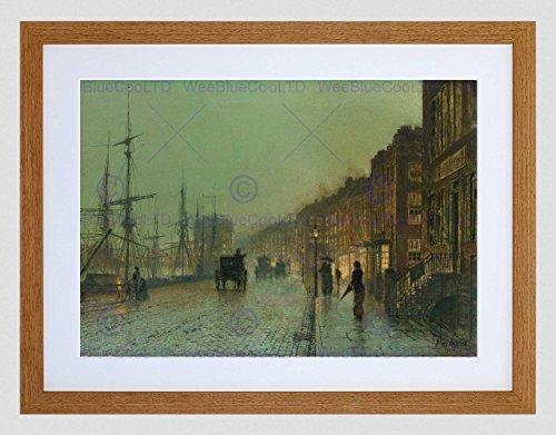 JOHN ATKINSON GRIMSHAW GLASGOW DOCKS 1881 OLD MASTER FRAMED ART PRINT B12X680
