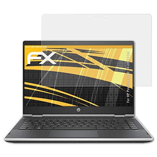 atFolix Panzerfolie kompatibel mit HP Pavilion x360 14-cd1012nf Schutzfolie, entspiegelnde und stoßdämpfende FX Folie (2X) (2 In 1 Laptop Hp Pavilion X360)
