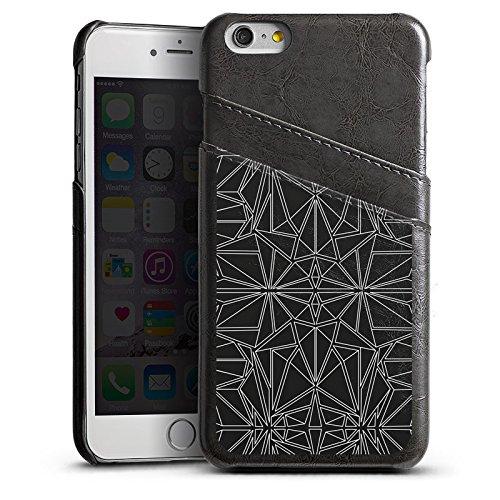 Apple iPhone 5s Housse Outdoor Étui militaire Coque Noir et blanc Motif Motif Étui en cuir gris