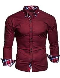 """Kayhan Hombre Camisa Slim Fit Modello """"Musterärmel"""""""