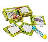 BBLIKE 16 Immagini Dipingere Doodle Drawing Supplies Penna di Acqua Magica, Giocattoli di Pittura per Bambini Educational Puzzles (Animali) (A)