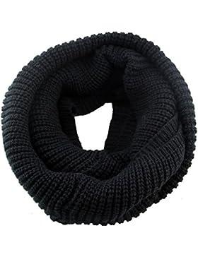 TININNA Unisex Invernali Caldo fatto a mano Lavorato a maglia crochet circle Sciarpa scalda collo Sciarpe