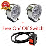 TRP TRADERS 2 Pcs 4 LED 12W Light/Driving FOG Spot DRL Lamp Bikes & Cars +Free On/Off Switch