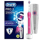 Oral-B Pro 2500 Crossaction Brosse à Dents Electrique Rechargeable Pack Bonus Edition Rose