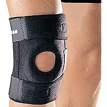 Ipow® Soporte deportivo para rodilla, protecciones rodilla/rodillera para correr, baloncesto, saltar, caminar y otros ,tamaños adjustble hasta 16 pulgadas,confortable para hombres y mujeres, Negro