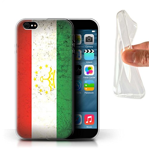 Stuff4 Gel TPU Hülle / Case für Apple iPhone 7 Plus / Philippinen Muster / Asien Flagge Kollektion Tadschikistan