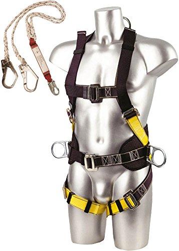 Workwear World ww246ponteggi e Torre caduta arresto imbracatura di sicurezza Kit e gancio doppio cordino