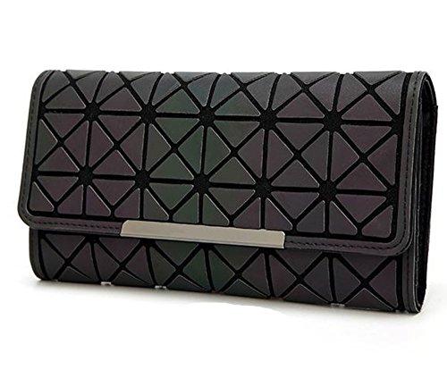 Rrock Lingge Brieftasche Frauen Lange Handy Karte Karte Tasche Leuchtende Brieftasche