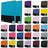 2er Pack Kinder Spannbettlaken 60x120 bis 70x140 cm in vielen Farben, Jersey Spannbettlaken für Kinder- und Babymatratzen - Farbe Sand