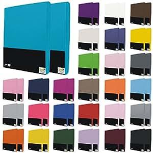 4er Pack Kinder Spannbettlaken 60x120 bis 70x140 cm in vielen Farben, Jersey Spannbettlaken für Kinder- und Babymatratzen - Farbe Türkis