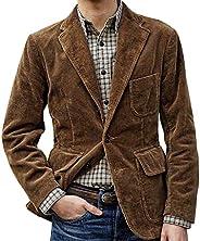 Men Suit Jacket Coat, Male Long Sleeve Button Pocket Single Breasted Blazer Outwear