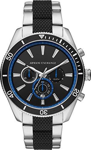 Armani Exchange Herren Chronograph Quarz Uhr mit Edelstahl Armband AX1831