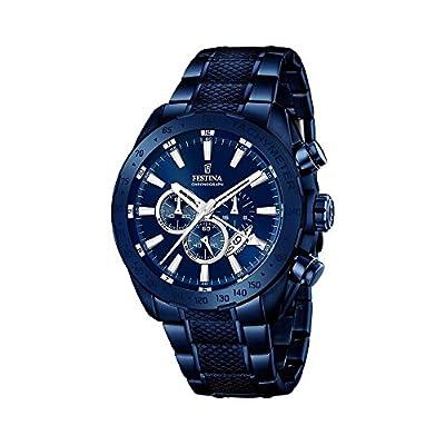 Reloj infantil de cuarzo con para hombre Festina azul esfera cronográfica y azul correa de acero inoxidable f16887/1 de Festina