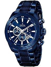 Festina - F16887-1 - Montre Homme - Quartz Analogique - Cadran Multicolore - Bracelet Acier Bleu