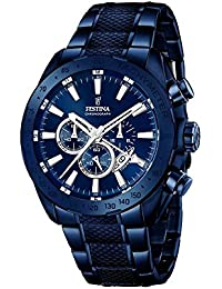 Festina Herren-Armbanduhr Chronograph Quarz Edelstahl beschichtet F16887/1