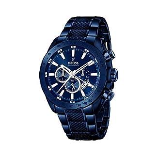 Festina F16887/1 – Reloj para hombre esfera cronográfica, correa de acero inoxidable, azul