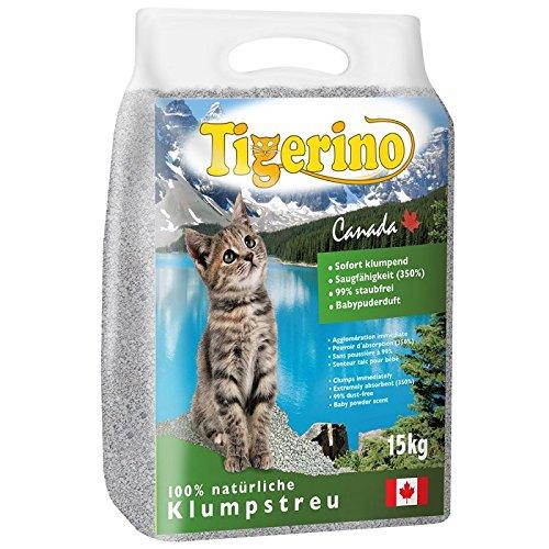 Tigerino Canada, 30 Kg (2 pacchi da 15 kg) lettiera