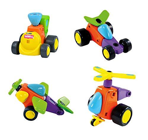 """TOMY Toomies """"Bau dir deine Fahrzeuge"""" - kreatives Spielzeug für Kinder ab 3 Jahren – Flugzeug, Auto, Hubschrauber oder Zug zum Zusammenbauen von TOMY"""