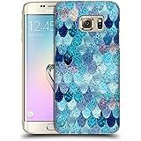Officiel Monika Strigel Aqua Bleu Sirène Heureuse Étui Coque D'Arrière Rigide Pour Samsung Galaxy S7 edge