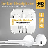 #4: Mobile Gabbar Headphones With Mic For iPhone, Apple, iPhone 4 / 4s / 5 / 5s / 6 / 6s iPad With 3.5mm Jack With Mic And Volume Button Earphone With Mic