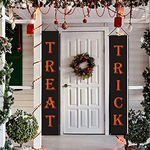 randa Zeichen Banner Süßes oder Saures Veranda Dekoration hängen Banner Halloween Haustür Dekoration Lieferungen ()