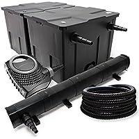 Kit de filtration avec Bio Filtre 60000l, 72W UV Stérilisateur, Pompe de bassin et 25m Tuyau