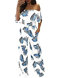 5d832b16792a4 Abito Tuta Donna Elegante Vestiti Tuta con Pantaloni Lungo Vestito Abito  Cerimonia da Donna Elegante Donna