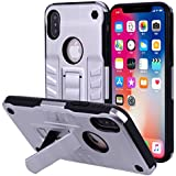IPhone X Case, Codream Slim Shockproof Anti-Scratch Durable Protective Case,High Impact Defender Bumper Case Compatible With IPhone X Silver