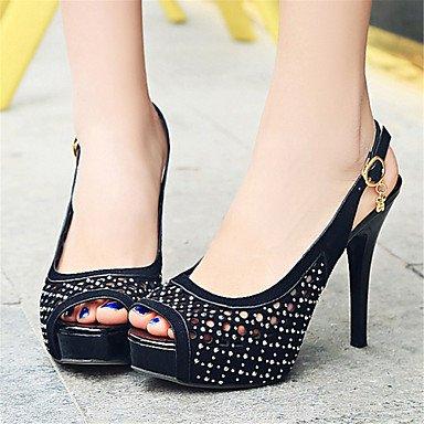 LvYuan Da donna-Sandali-Matrimonio Ufficio e lavoro Casual-Innovativo Club Shoes-A stiletto-Lustrini Materiali personalizzati-Nero Giallo Rosso Black