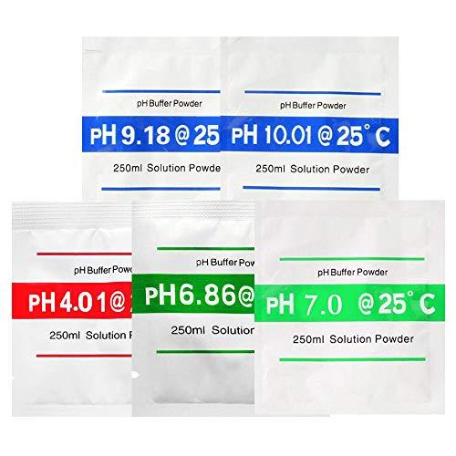 Bihood pH Pufferlösung Puffer pH Puffer pH Meter pH Test Boden pH Meter pH Puffer pH Wert pH Wert pH Controller PH Meter Pufferlösungen Kalibrierungen Messgeräte 4.01 6.86 7.00 9.18 10.01 -