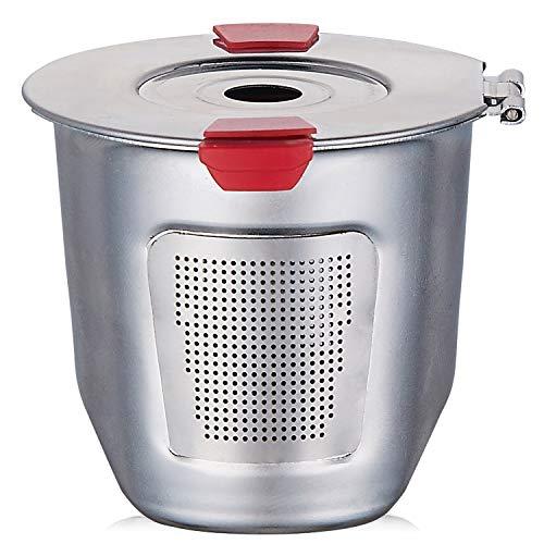 wiederverwendbar K Tassen für Keurig 2.0& 1.0Kaffee Maschinen Universal Edelstahl wiederverwendbar Keurig Filter Keurig wiederverwendbar K Cup 100% BPA-frei 2.3in-1PC - Wiederverwendbar Kaffee-tassen Keurig