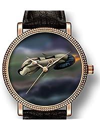 Reloj de Cuarzo para Hombre, Estilo Informal, Estilo Spacecraft Volando