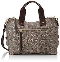 297d57bbcb Borbonese Handbag, Borsa a mano Donna, (Op Classico/Marrone), 33x16x15 cm  (W x H x L)