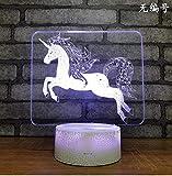 Neuheit usb led lampe 7 farbwechsel kinderzimmer dekoration 3d nachtlicht fernbedienung usb 3d leuchten