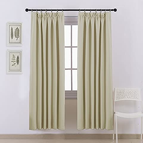Window Treatments Pencil Pleat Curtains - PONY DANCE Thermal Insulated