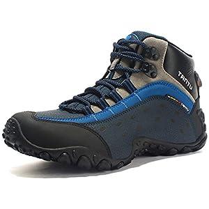 GNEDIAE Para Hombre Botas de Senderismo Impermeables de Ocio al Aire Libre Zapatos de Deporte Zapatillas de Senderismo Cordones Trainer Botas 40-46