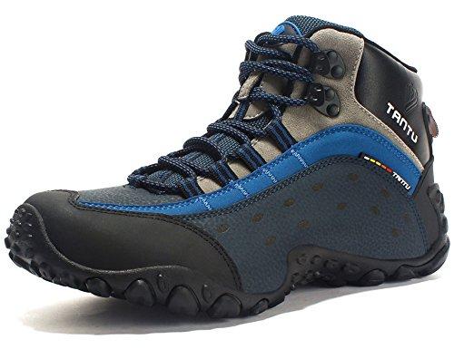 GNEDIAE Para Hombre Botas de Senderismo Impermeables de Ocio al Aire Libre Zapatos de Deporte Zapatillas de Senderismo Cordones Trainer Botas 40-46 (40 EU: Longitud Interna 25cm, D039 Azul Polar)