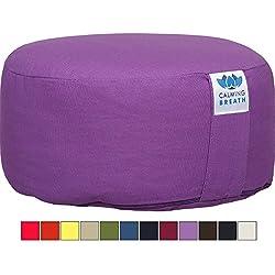 Almohadilla de meditación Yoga CalmingBreath, Algodón - Alforfón lleno - ¡Grandes colores!