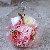 lkklily-glass botella San Valentín flores cumpleaños eterna regalo creativo cristal casa paisaje