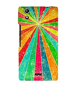 Fiobs Designer Back Case Cover for Micromax Canvas Selfie 3 Q348 (Lines Rays Rekha Asha Ummeed Patterns)