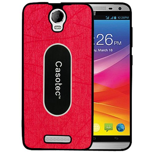 Casotec Metal Back TPU Back Case Cover for Micromax Canvas Juice 2 AQ5001 - Red  available at amazon for Rs.175