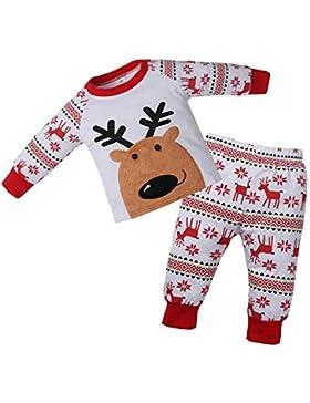 Ansenesna Baby Weihnachten Kostüm Mädchen Junge Elch Cartoon Soft Elegant Weihnachts Kleidung Tops und Hose