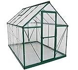 Palram Aluminium Gewächshaus Gartenhaus Hybrid 6x8 grün // 250x185x209 cm (LxBxH); Treibhaus & Tomatenhaus zur Aufzucht