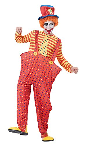 Bristol Novelty ac961 Hoop Clown Kostüm (Outfit Clown Halloween)