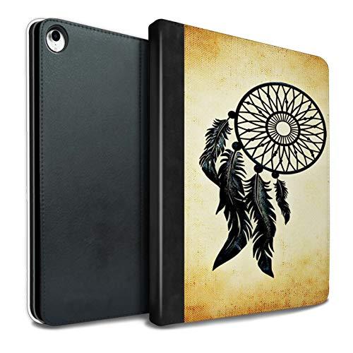 eSwish - Libreta de Piel sintética con Funda, IP-TSB, colección de Arte de atrapasueños Old Fashion/Black Feathers iPad Pro 10.5 (2017)