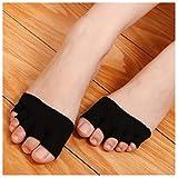 ECYC® Anti Slip High Heels Sandale Unsichtbare Half Footie Toe Socken, Schwarz