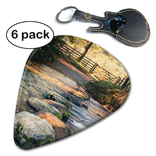 Autumn Stepping Stones Lake District Stream Guitar Picks (6-Pack) for Acoustic Electric and Bass Guitars.71mm - Stream Jar