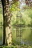 kuheiga Rankgerüst Rankhilfe aus Metall H: 200cm, Ø: 34cm Rankturm Obelisk
