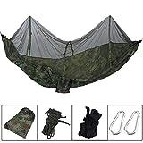 Sen-Sen 260x130cm Outdoor Camping Schlaf Hängematte hängendes Bettzelt mit Moskitonetz Tarnfarbe