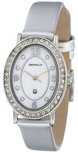Orphelia Damen-Armbanduhr Oval Edition Analog Quarz Leder